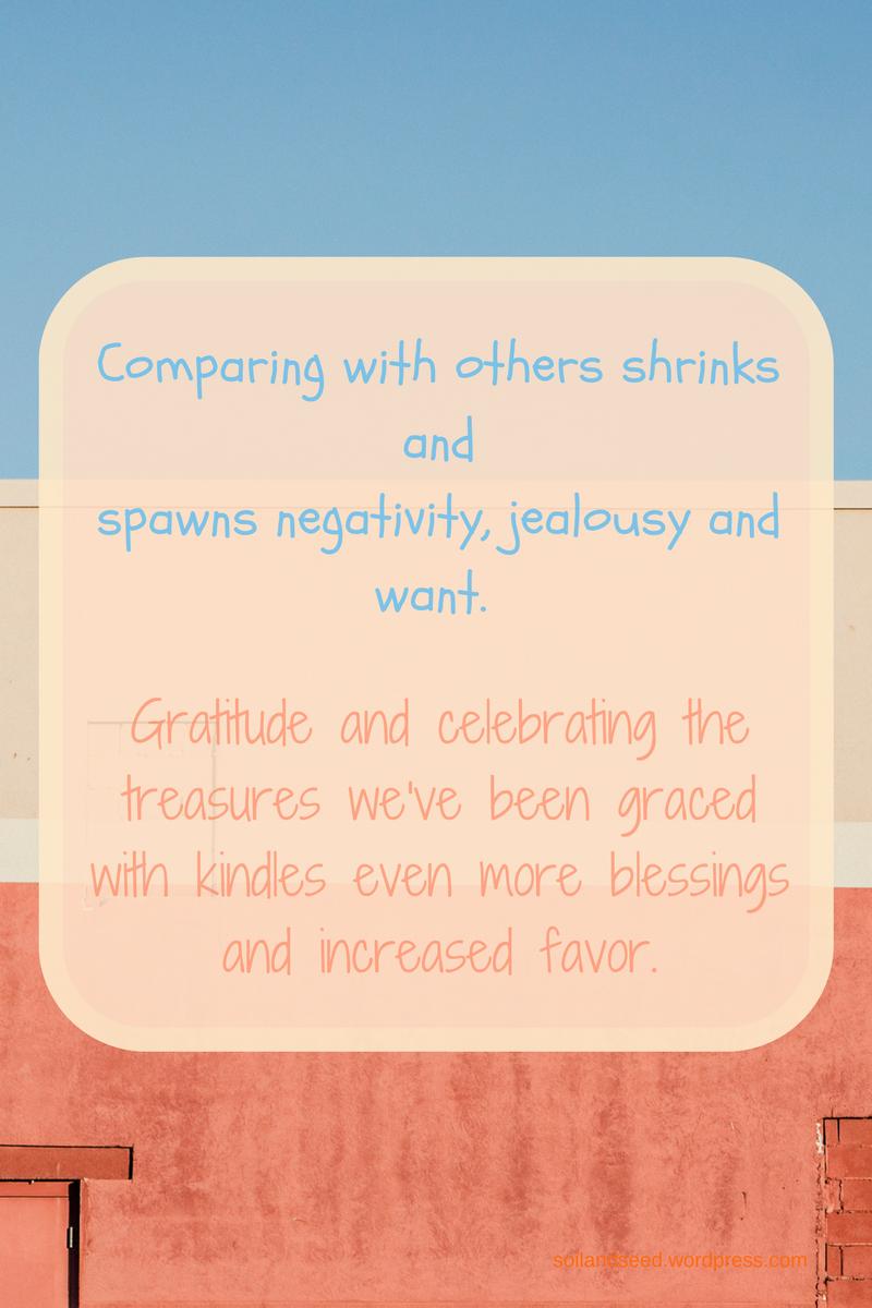 Comparing or Gratitude